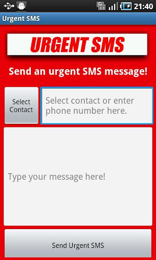 Urgent SMS