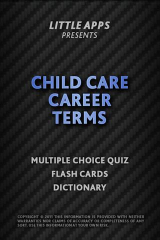 CHILD CARE CAREER TERMS