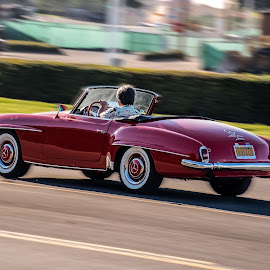 The Right Way to Go by Boyd Smith - Transportation Automobiles ( meredes benz, classic car, white walls, convertible )