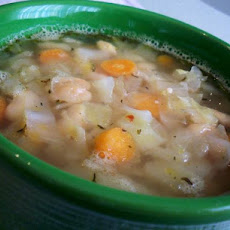 Bacon, Cabbage, and White Bean Soup