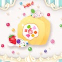 Sweets swiss roll icon
