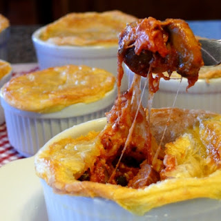 Sausage Pizza Pot Pies