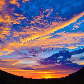 San Tan Sunset by Richard Grzych - Landscapes Deserts