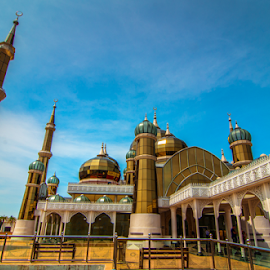The Crystal Mosque by Syazwan Shahril - Buildings & Architecture Other Exteriors ( muslim, building, islam, masjid kristal, mosque, terengganu, malaysia, architecture, crystal mosque )