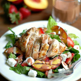 Nectarine & Chicken Salad with Strawberry Balsamic Vinaigrette