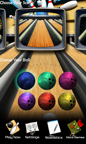 3D Bowling Android App Screenshot