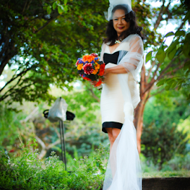The Bride by Jason Weigner - Wedding Bride ( woman, dress, wedding, white, flowers, bride, Wedding, Weddings, Marriage )