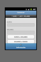 Screenshot of Conversor Euro Dolar