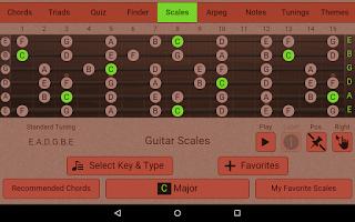 Screenshot of Guitarist's Reference