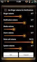 Screenshot of Mixer CyanOrangen - CM7 Theme