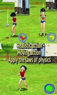 Real 3D Football Juggling - screenshot