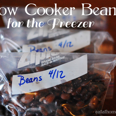Slow Cooker Beans for the Freezer aka Refried Beans without the Refry