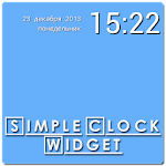 Simple Clock Widget APK Image