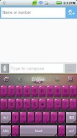 Screenshot of GO Keyboard Ladies theme