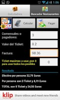 Screenshot of Ticket Restaurant Calculator