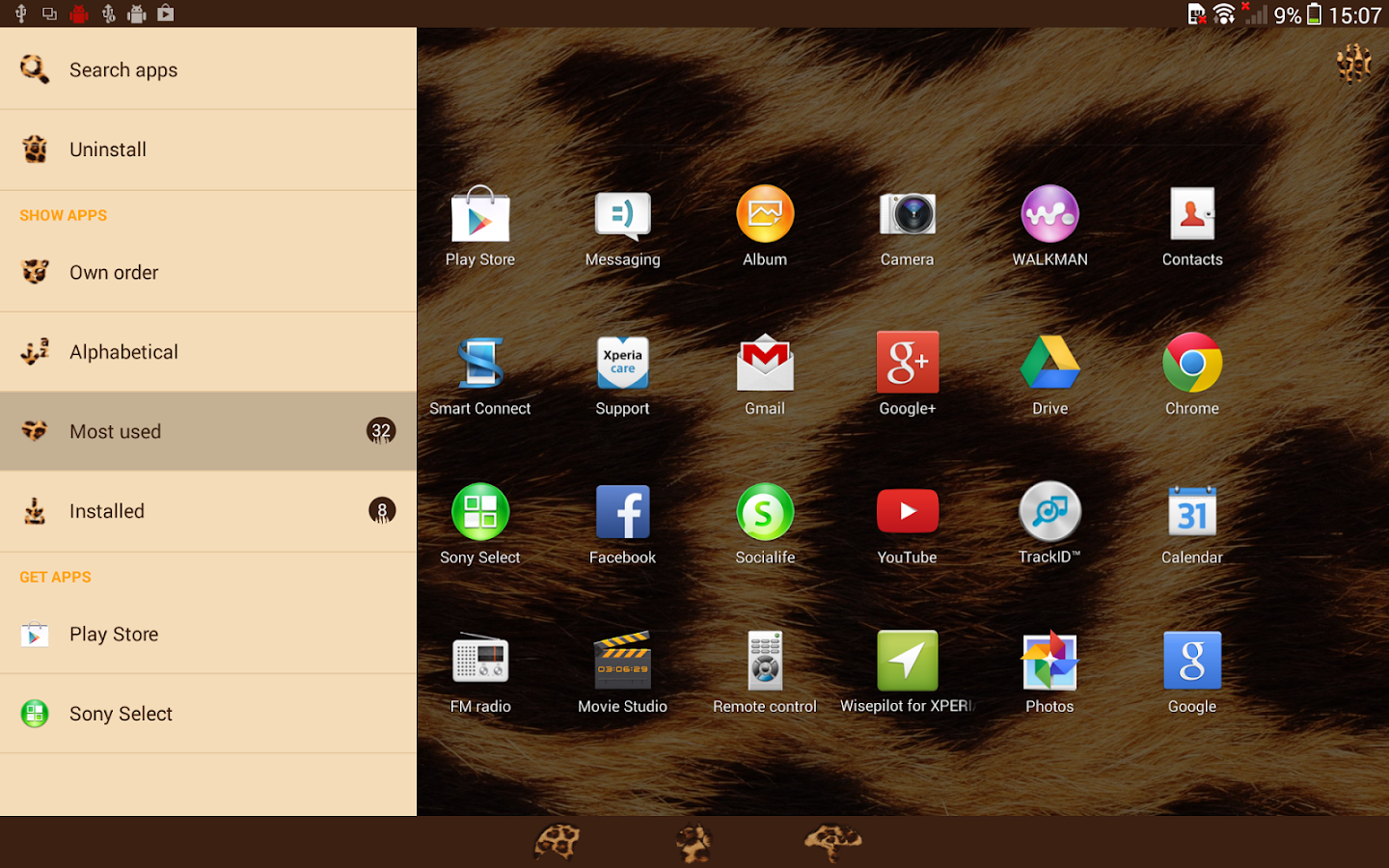 XPERIA™ African Leopard Theme Screenshot 5