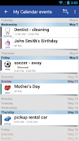 Screenshot of Blik Calendar Widget