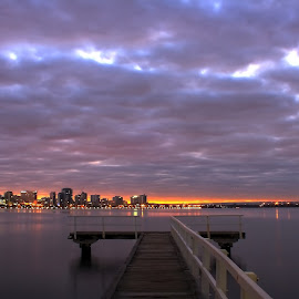 by Matty Gott - Landscapes Cloud Formations ( west australia, perth, swan river o, fractured sky )