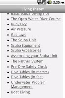 Screenshot of Scuba Exam