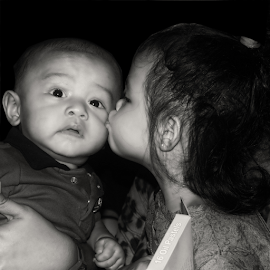 kissing by Chester Asehan - Babies & Children Babies