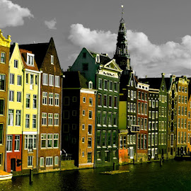 Amsterdam in Colours by Vojkan Milosev - Buildings & Architecture Other Exteriors ( water, holland, buildings, channels, amsterdam, architecture )