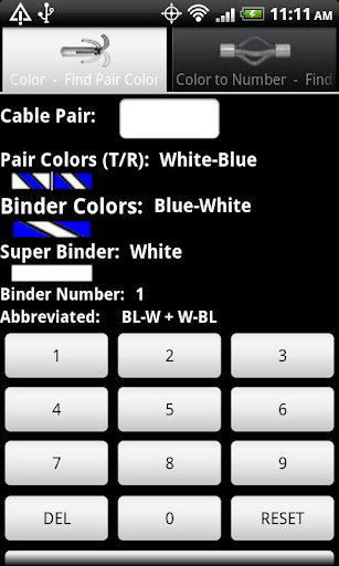 Telecom Color Code Calculator
