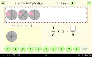 Screenshot of Simply Fractions 3 (Lite)