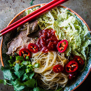 Spicy Asian Steak Noodle Soup