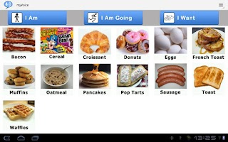 Screenshot of AAC Autism myVoiceCommunicator
