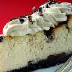 Chocolate Chip Cheesecake with Low-fat Creme Anglaise