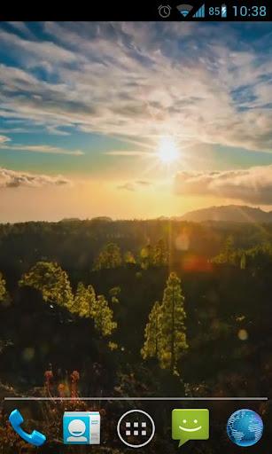 Sunny Mountain Live Wallpaper