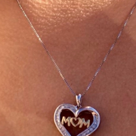 I love You MOM! by Terry Linton - Artistic Objects Jewelry ( love, heart, chain, diamonds, jewelry, letters,  )