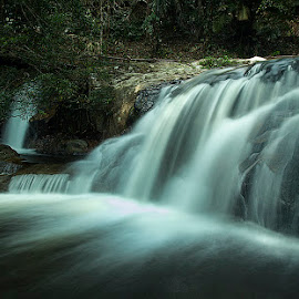 Water Fall At Lata Bayu, Kedah, Malaysia by Carrot Lim - Landscapes Waterscapes