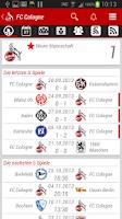 Screenshot of 1. FC Köln App