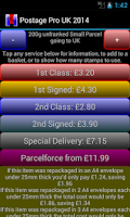 Screenshot of Postage Pro UK 2014 Free