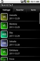 Screenshot of Travstat Android