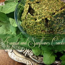 Arugula and Sunflower Seed Crackers