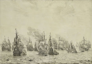 RIJKS: Willem van de Velde (I): The Battle of Livorno (Leghorn) 1699