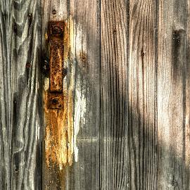 Door Handle by Dan Ferrin - Buildings & Architecture Architectural Detail ( handle, barn, door, rusty, rust, door handle )