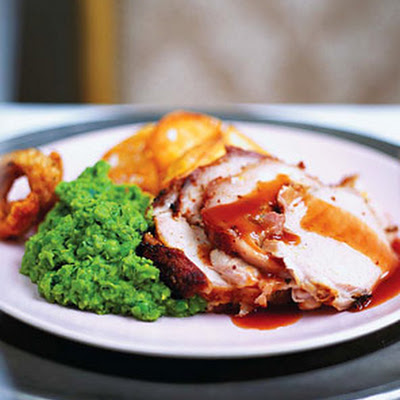 Mustard Fennel Pork Loin with Cumberland Pan Sauce