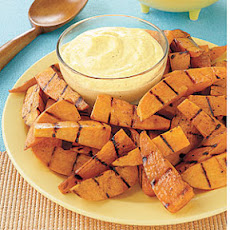 Grilled Sweet Potato Fingers with Curry Dip