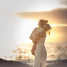 Love... by Skaiste Sky - People Family ( water, love, laguna beach, mother, california, sunset, daughter, ocean, beach, sun )