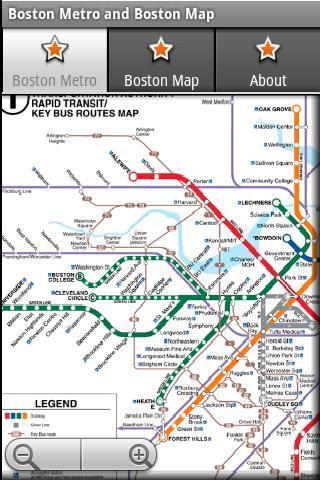 波士顿地铁运行图 波士顿地图