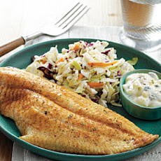 Pan-Fried Catfish with Cajun Tartar Sauce