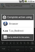 Screenshot of t.co redirector