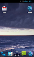 Screenshot of Stormy Ocean Live Wallpaper HD