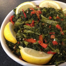 Kale with Garlic and Peppers