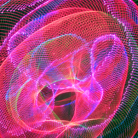 Laser Tubes ! by Jim Barton - Abstract Patterns ( laser light, colorful, tube, light designs, laser, light, tubes, science, laser designs )