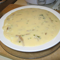 Creamy Potato Soup With All the Fixings