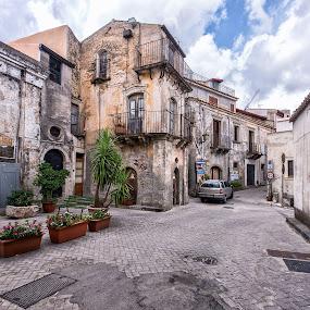 Forza D'Agro by Gabriel Catalin - City,  Street & Park  Neighborhoods ( old, forza d'agro, street scene, italy, sicily )